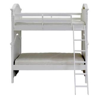 Sweet Pea White Twin Over Twin Bunk Bed