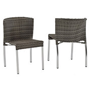 Gerald Gray 3-Piece Patio Set w/10mm Glass Top  alternate image, 6 of 8 images.