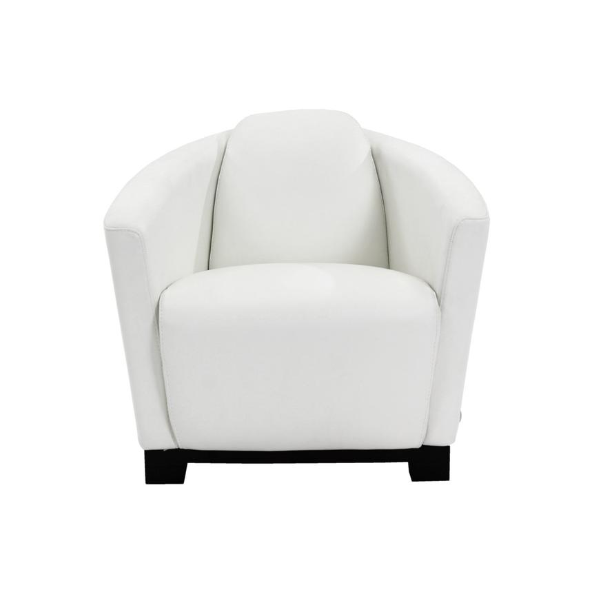 Fellini White Leather Accent Chair  alternate image, 4 of 7 images.