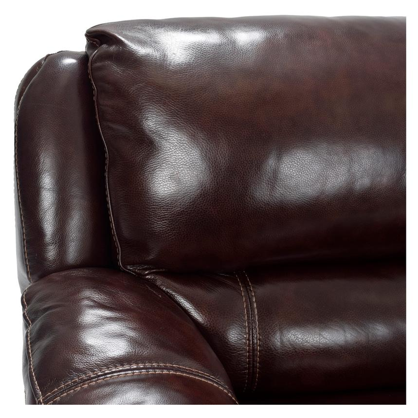 Theodore Brown Power Motion Leather Sofa w/Right & Left Recliners  alternate image, 4 of 7 images.