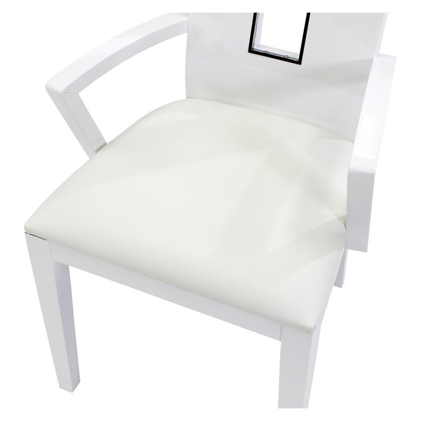 Novo White Arm Chair  alternate image, 4 of 4 images.