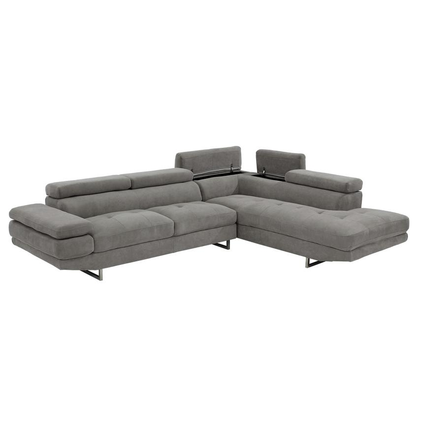 Taheri Gray Sofa w/Right Chaise  alternate image, 3 of 8 images.