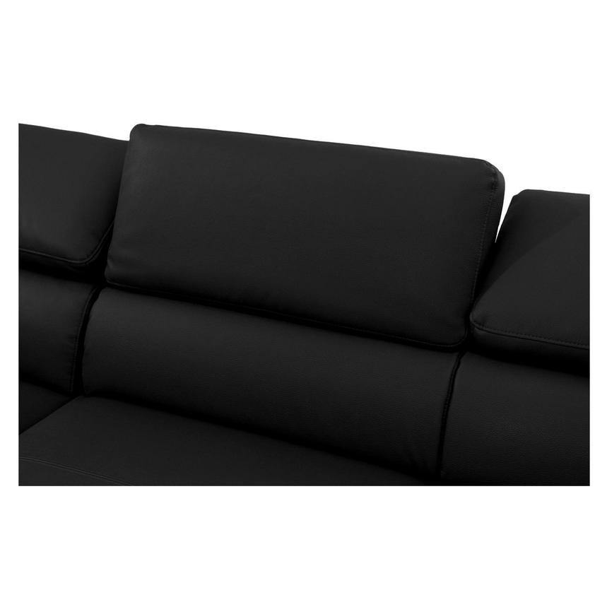 Costa Black Sofa w/Left Chaise  alternate image, 4 of 6 images.
