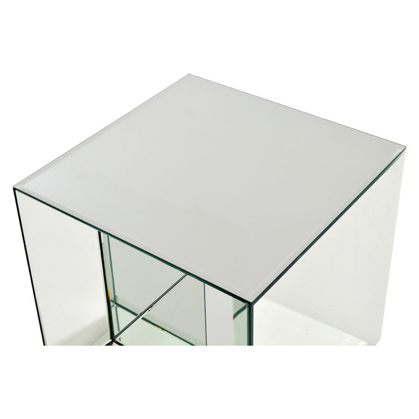 Oleta Mirrored Side Table  alternate image, 3 of 3 images.