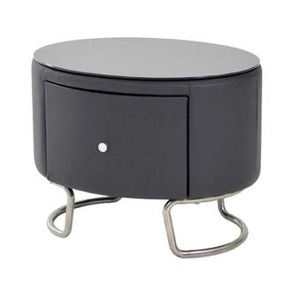 Kolosko Gray Nightstand w/Glass Top