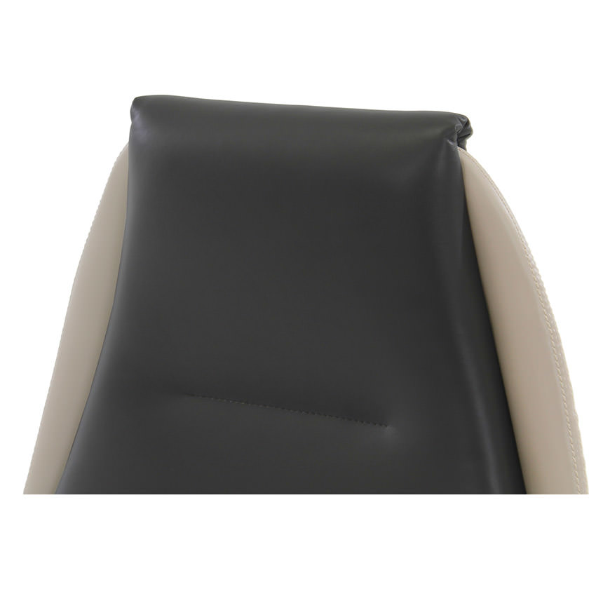 Prector Black/White Leather Desk Chair  alternate image, 4 of 7 images.
