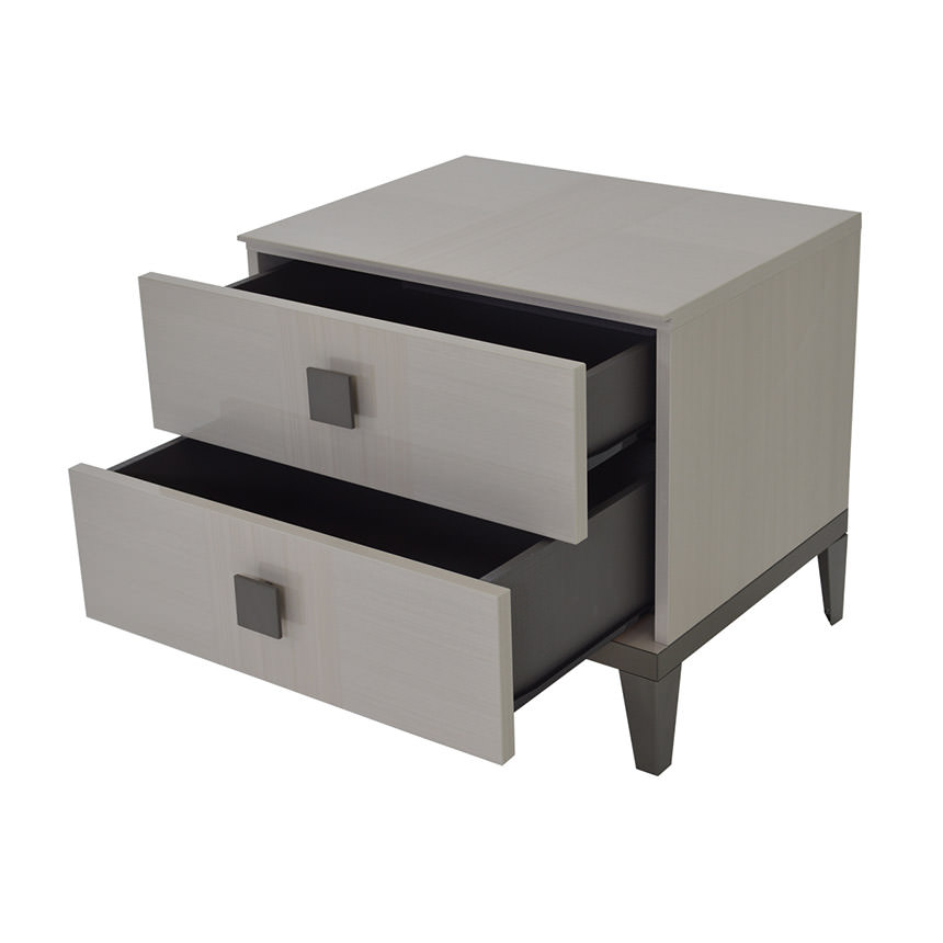 Mont Blanc Gray Nightstand Made in Italy  alternate image, 3 of 9 images.