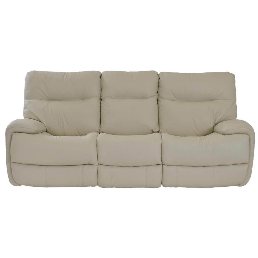 Evian Cream Power Motion Leather Sofa  alternate image, 4 of 9 images.