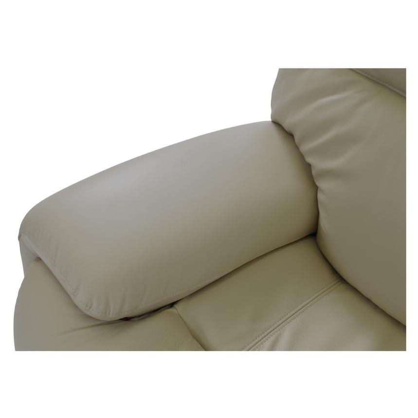 Evian Cream Power Motion Leather Sofa  alternate image, 9 of 9 images.