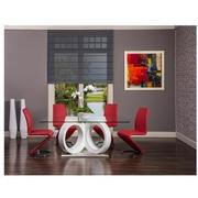 Stop 36 Red 5-Piece Formal Dining Set  alternate image, 2 of 11 images.