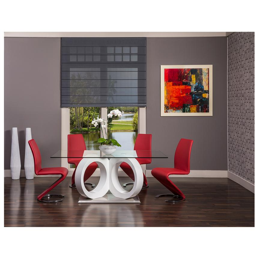 Ordinaire Stop 36 Red 5 Piece Formal Dining Set Alternate Image, 2 Of 12 Images