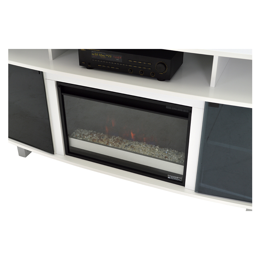 Enterprise White Faux Fireplace w/Remote Control  alternate image, 4 of 6 images.