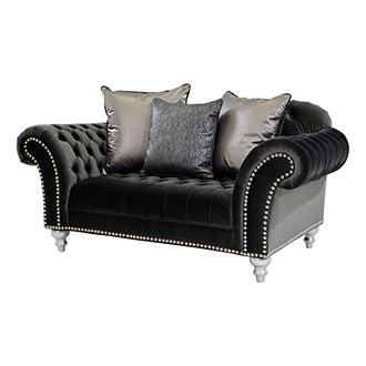 Laura Dark Gray Loveseat