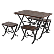 Rust 5-Piece Casual Dining Set (Sold By Set Only)  main image, 1 of 8 images.