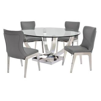 Onyx Gray 5-Piece Formal Dining Set