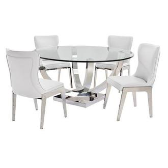 Onyx White 5-Piece Formal Dining Set
