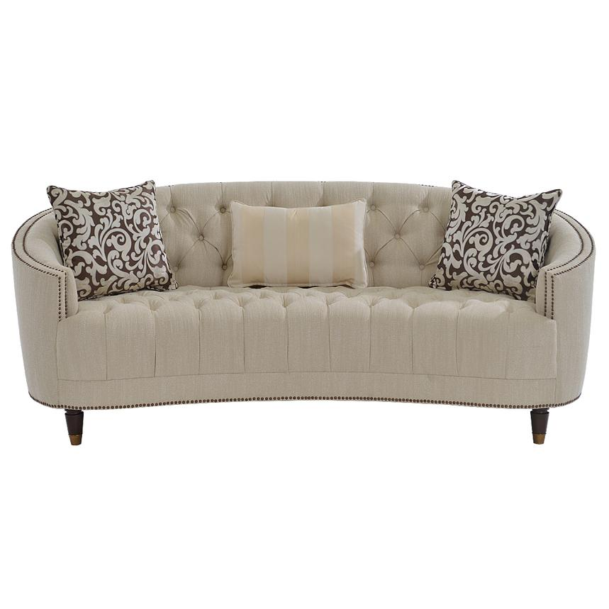 Kimberly Cream Sofa  alternate image, 4 of 9 images.