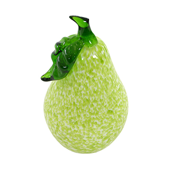 Glass Pear Sculpture