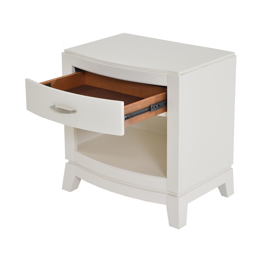 Avalon White Nightstand  alternate image, 3 of 8 images.