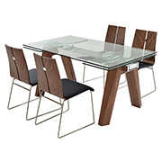 Valencia Brown/Black 5-Piece Formal Dining Set  main image, 1 of 13 images.
