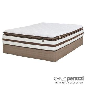Siena Twin XL Mattress Set w/Low Foundation by Carlo Perazzi