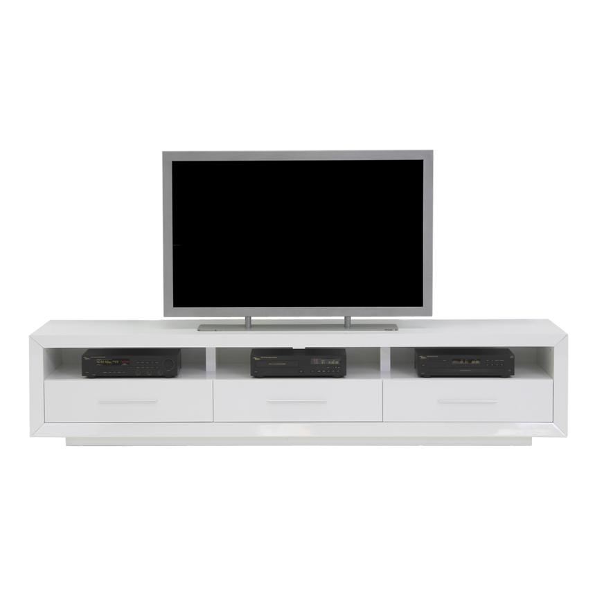Contour White TV Stand  alternate image, 4 of 7 images.