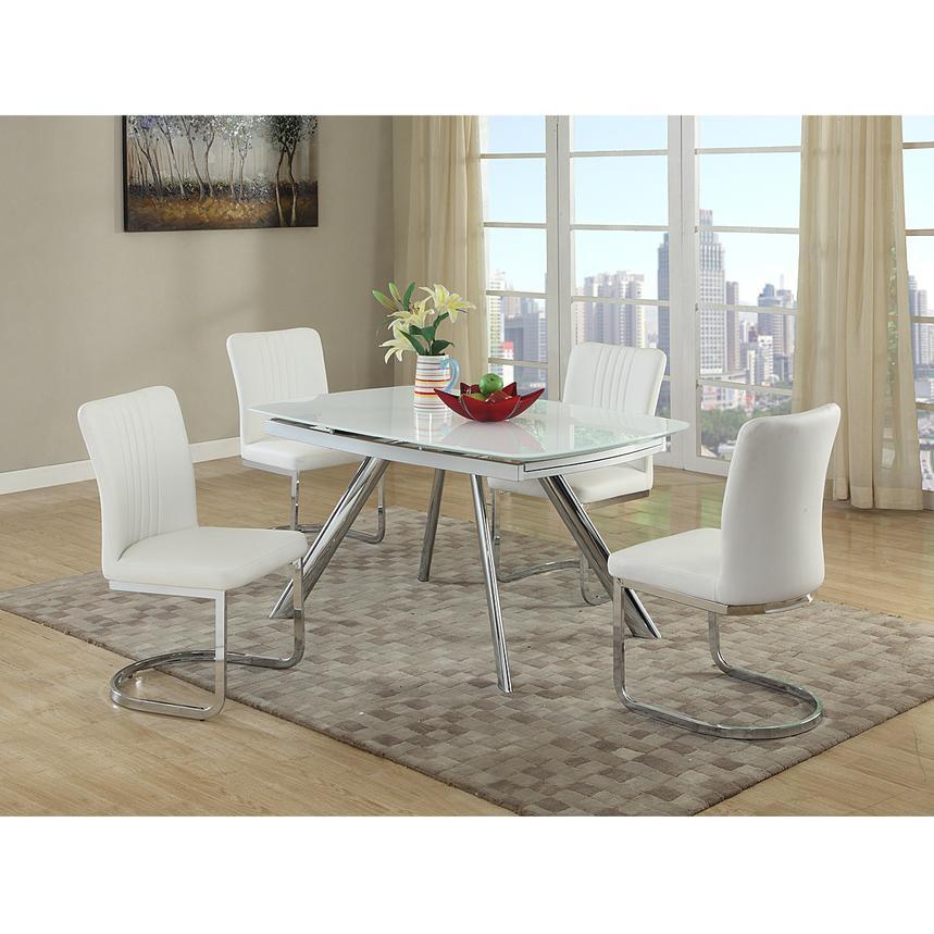 Alina White 5-Piece Casual Dining Set | El Dorado Furniture