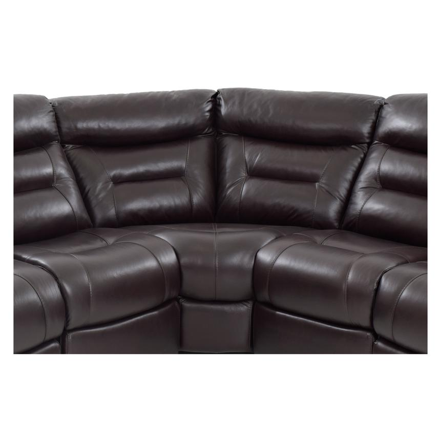 Berkeley Brown Power Motion Leather Sofa w/Right & Left Recliners  alternate image, 4 of 7 images.
