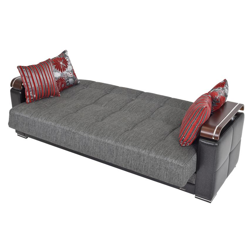 Ekol Gray Futon Sofa w/Storage  alternate image, 3 of 8 images.