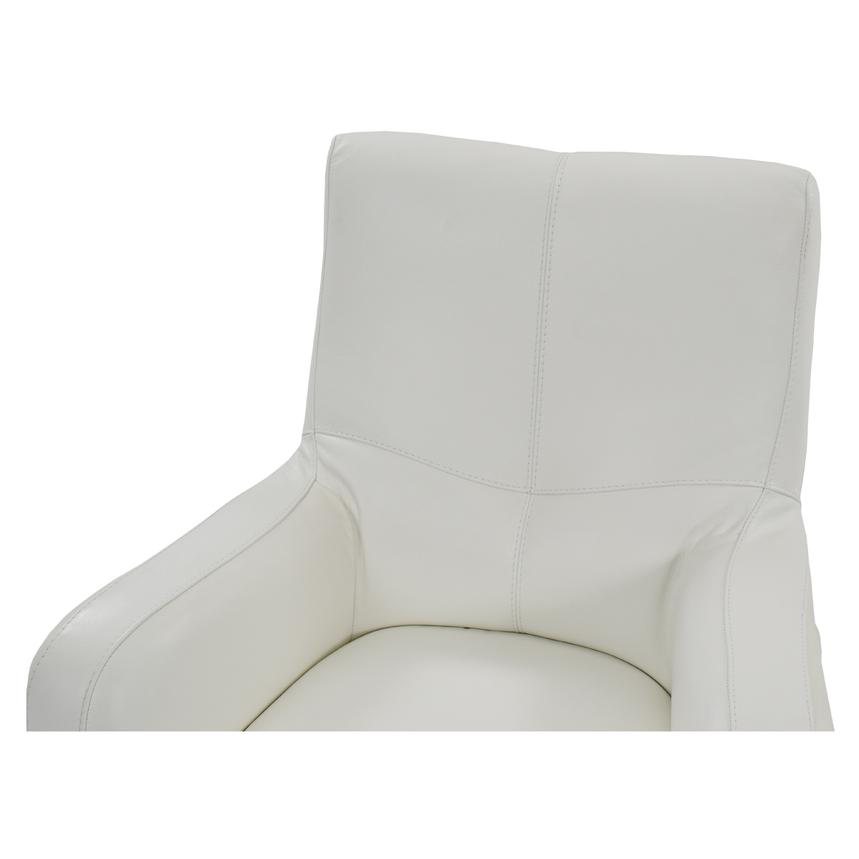 Verona White Leather Swivel Chair  alternate image, 4 of 5 images.
