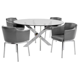 Dusty Gray 5-Piece Casual Dining Set