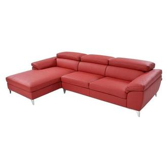 Costa Red Sofa w/Left Chaise