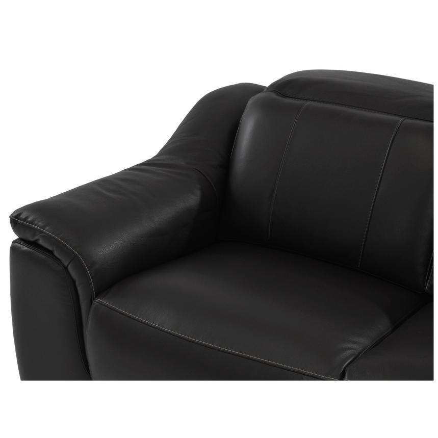 Davis Black Power Motion Leather Sofa w/Right & Left Recliners  alternate image, 3 of 8 images.