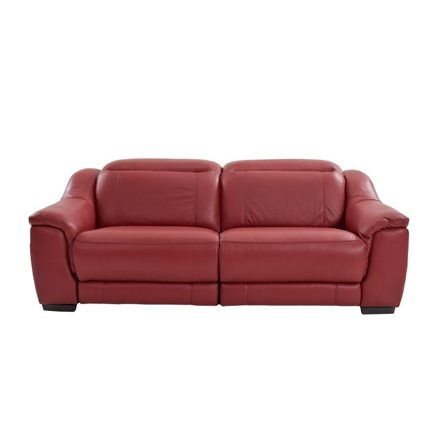 Superieur Davis Red Power Motion Leather Sofa Alternate Image, 3 Of 9 Images.