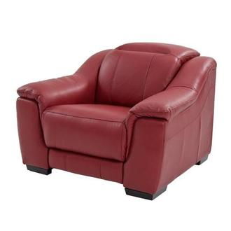 Davis Red Power Motion Leather Recliner