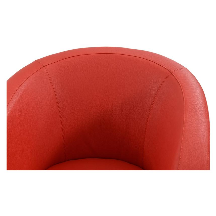 Delia Red Swivel Accent Chair  alternate image, 3 of 6 images.