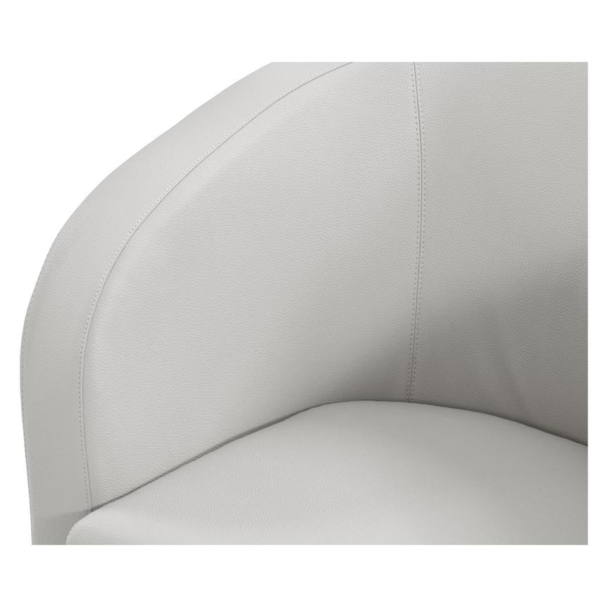 Delia White Swivel Accent Chair  alternate image, 4 of 6 images.