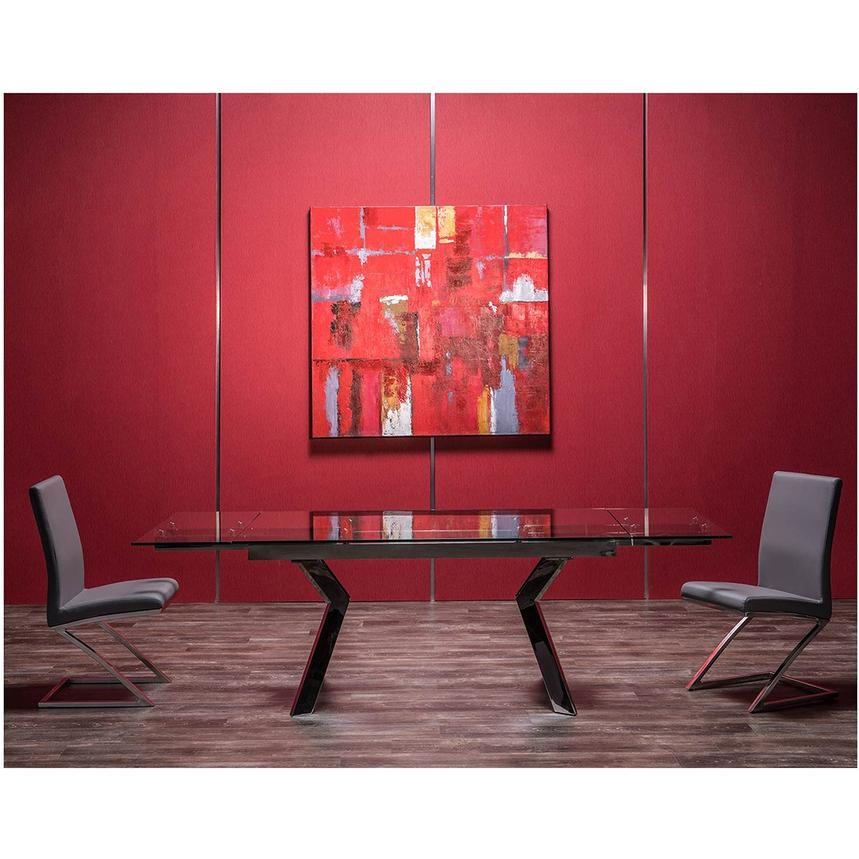 Lynne Clear Extendable Dining Table  alternate image, 3 of 7 images.