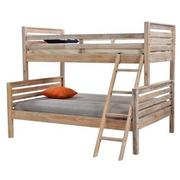 Montauk Natural Twin Over Full Bunk Bed Made in Brazil  main image, 1 of 7 images.