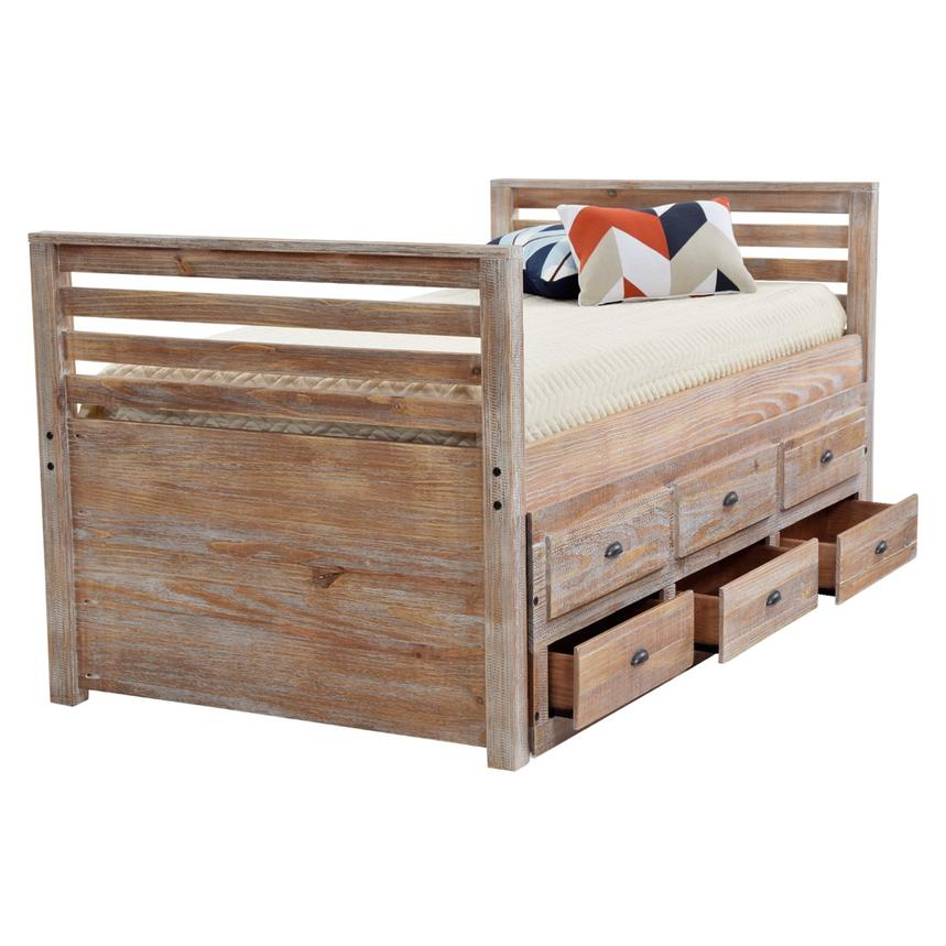 Montauk Natural Twin Storage Captain Bed Made in Brazil  alternate image, 3 of 8 images.