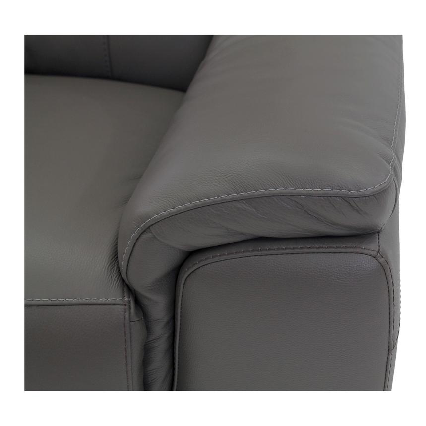 Davis Gray Power Motion Leather Sofa w/Right & Left Recliners  alternate image, 3 of 11 images.