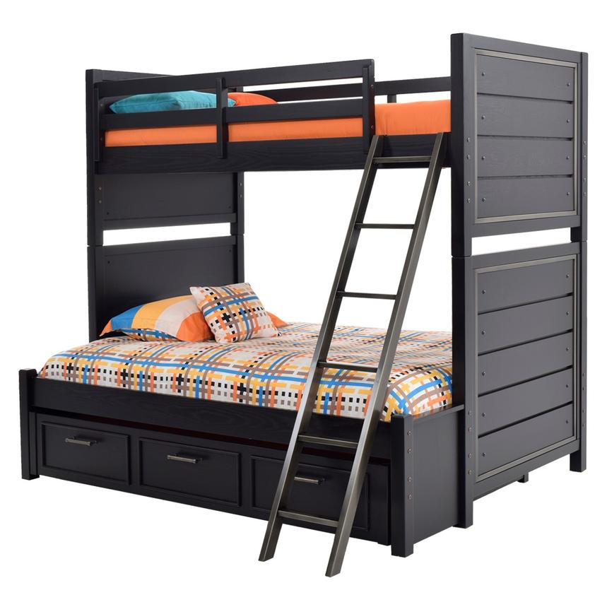 Graphite Twin Over Full Bunk Bed  alternate image, 3 of 8 images.