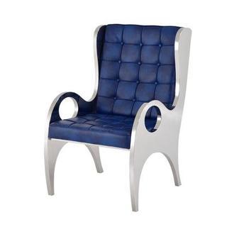Gentil Boss Blue Accent Chair