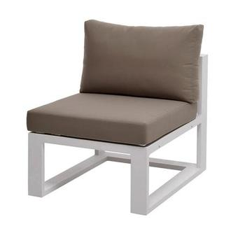 Mykonos Cream Armless Chair