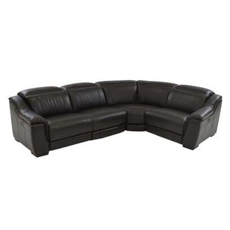 Davis Brown Power Motion Leather Sofa W/Right U0026 Left Recliners