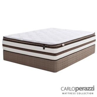 Catania Queen Mattress Set w/Regular Foundation by Carlo Perazzi