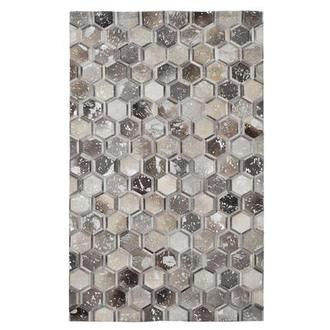 Cannes Gray Cowhide Patchwork 5' x 8' Area Rug