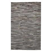 Capri Gray Cowhide Patchwork 5' x 8' Area Rug  main image, 1 of 4 images.