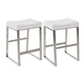 Sabriel White Counter Stool