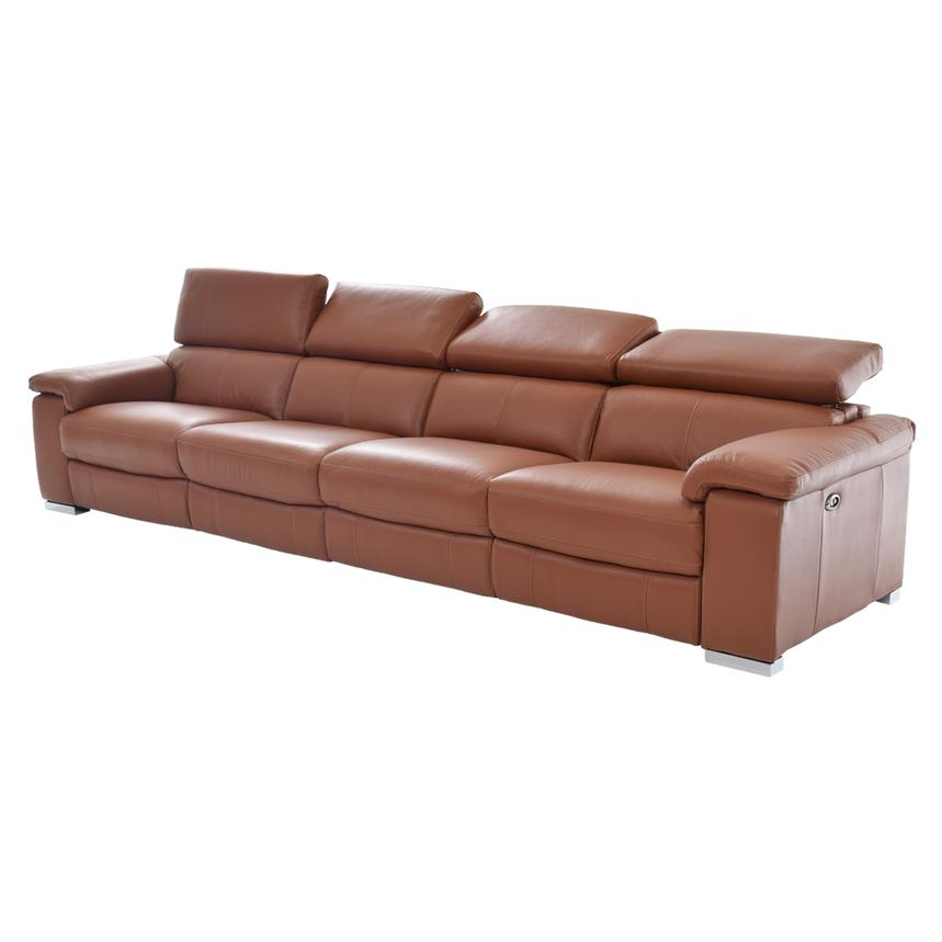 Nathan Tan Oversized Leather Sofa  alternate image, 3 of 6 images.